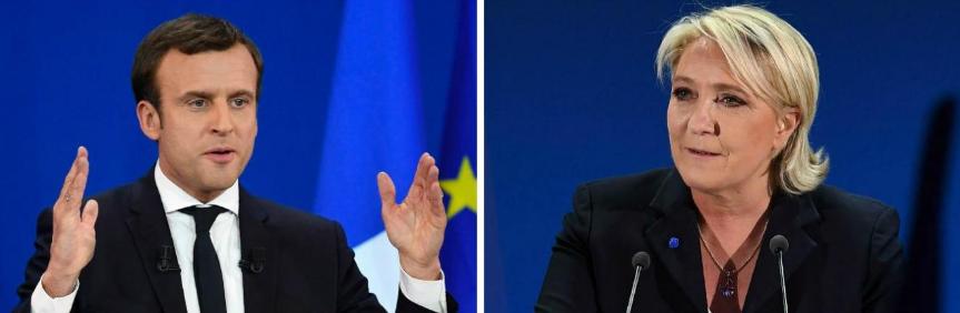 Emmanuel Macron et Marine Le Pen face au chômage